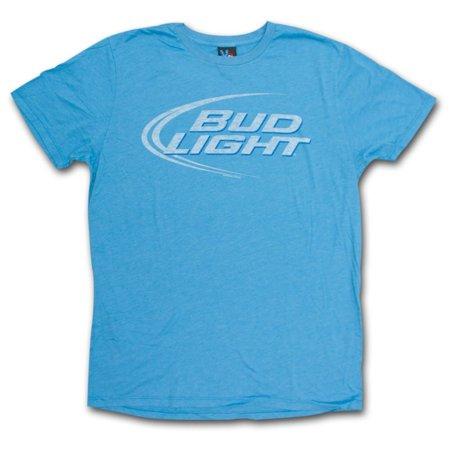 Bud Light Faded Design Heather Blue Graphic Tshirt