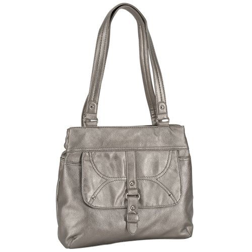 George Pebble Shopper Handbag, Pewter