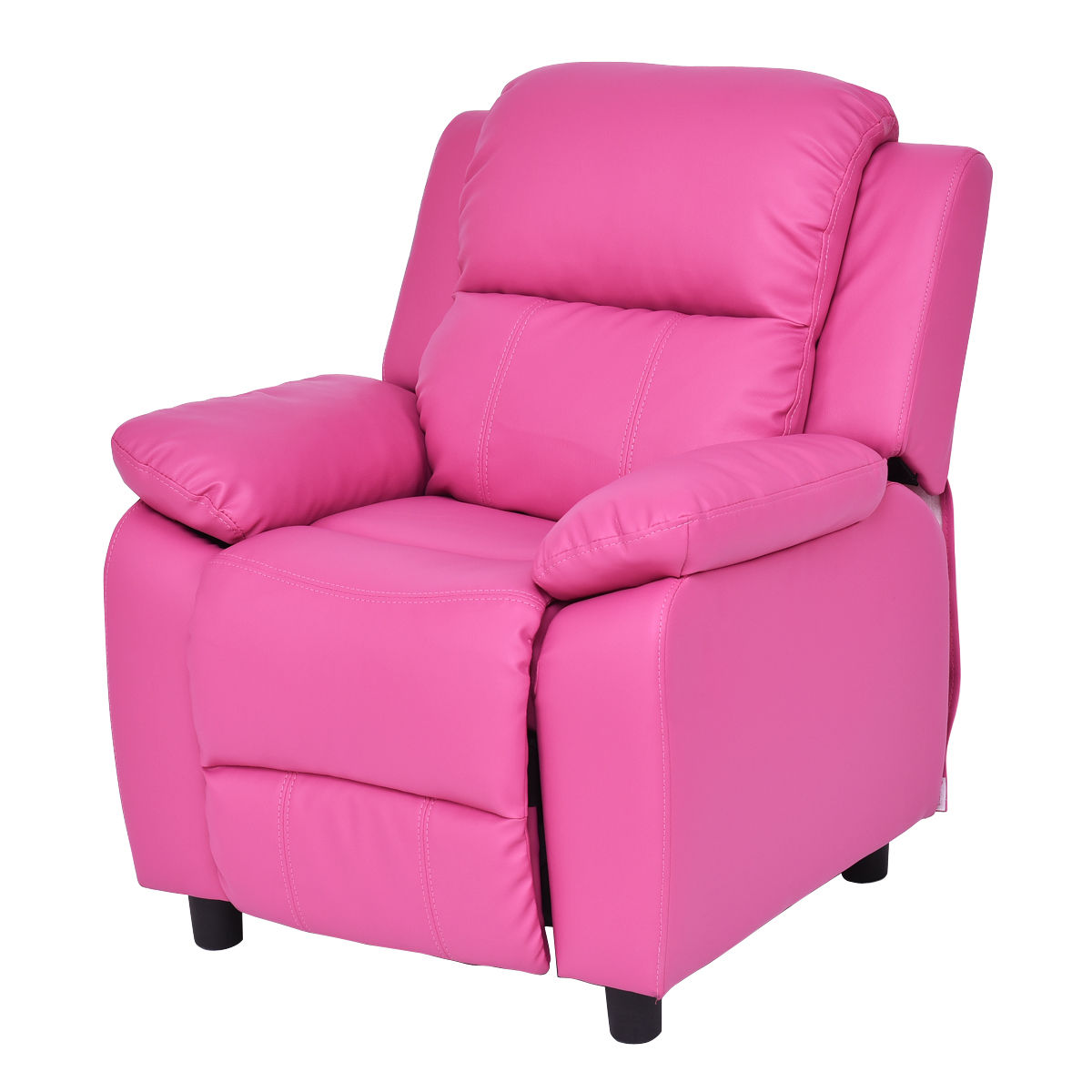 Costway Kids Recliner Sofa Armrest Chair Couch Lounge Children Living Room Furniture rose red  sc 1 st  Walmart : mini recliner chairs - islam-shia.org