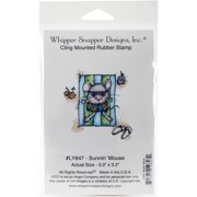 "Whipper Snapper Cling Stamp 4""X6""-Sunnin' Mouse"