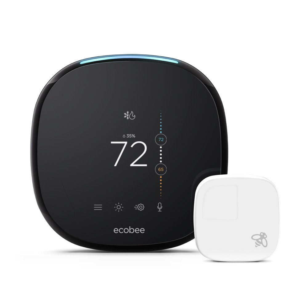 ecobee4 Smart Thermostat + Room Sensors, No Hub Required