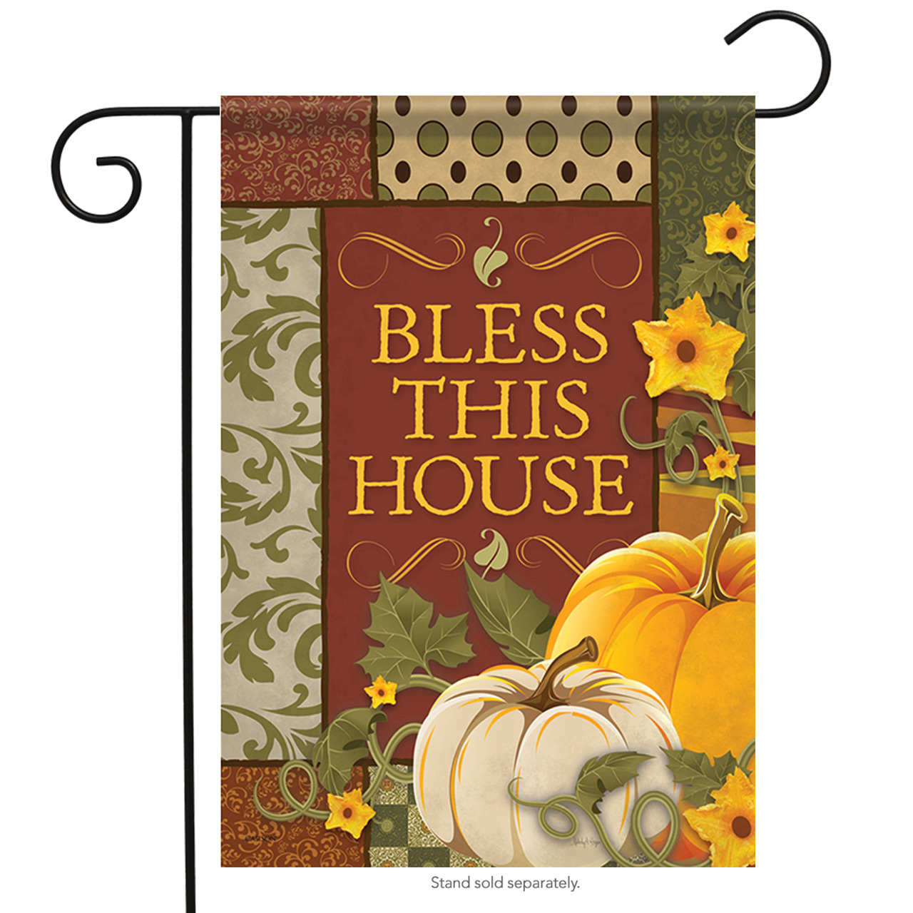 "Bless this House Fall Garden Flag Happy Pumpkins Autumn Thanksgiving 13"" x 18"""