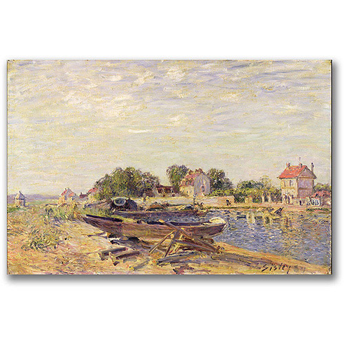 """Trademark Fine Art """"The Loing At Saint-Mammes Ii"""" Canvas Wall Art by Alfred Sisley"""