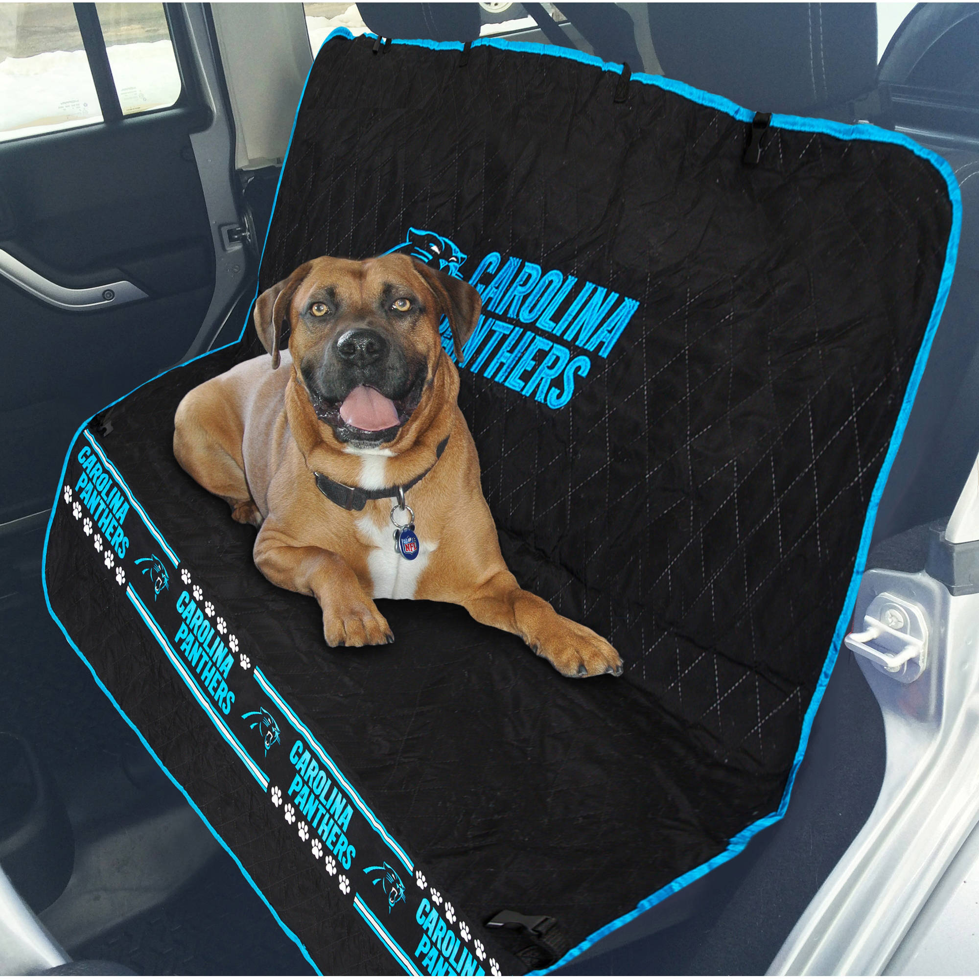 Pets First NFL Carolina Panthers Car Seat Cover