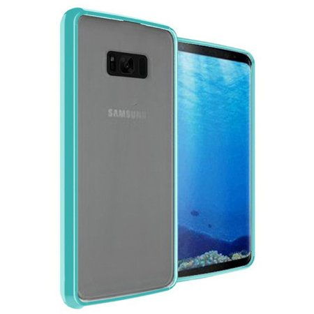 Samsung Galaxy S8 Case, by Insten Ultra Slim Hard Crystal Clear Fused Hybrid PC/TPU Case Cover For Samsung Galaxy S8 - Clear/Blue - image 1 of 3
