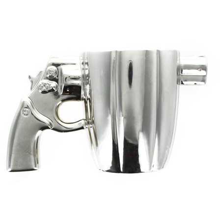 Revolver Handgun Metallic Silver Ceramic Coffee Mug](Toy Revolver)