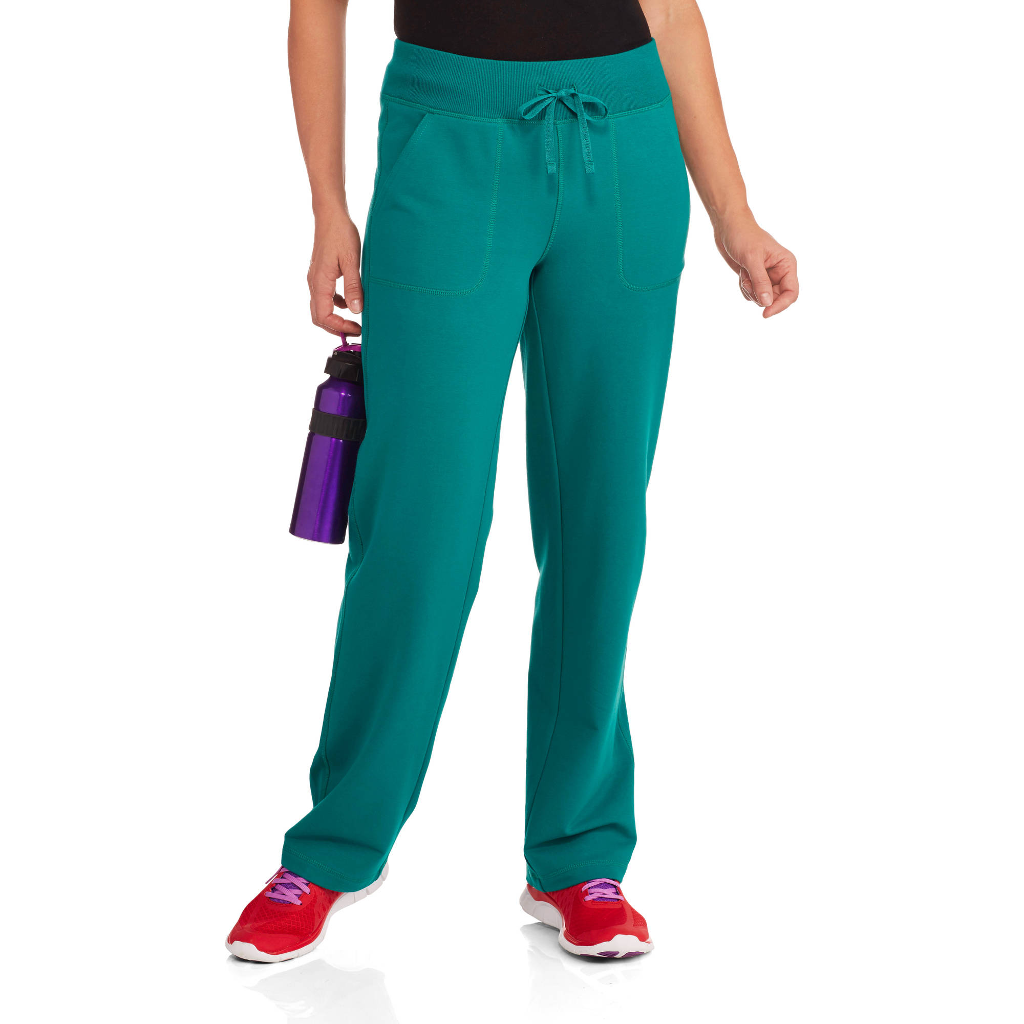 Danskin Now Women's French Terry Athletic Pants--Available in Regular and Petite Lengths