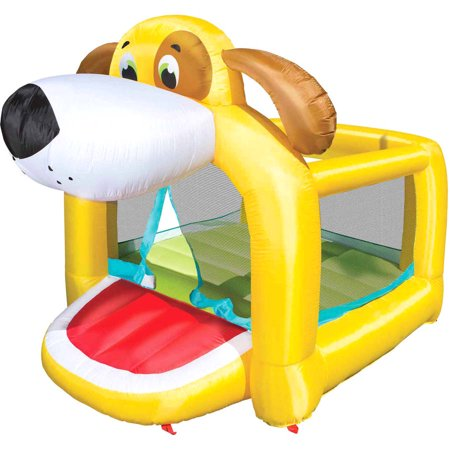 Banzai Playful Puppy Bouncer (Inflatable Jumping Bounce House Backyard Summer Bouncing Jump Castle)