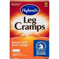 Hyland's Leg Cramp Caplets, 40 Count, Natural Calf, Leg and Foot Cramp Relief, #1 Pharmacist Recommended Leg Cramp Relief