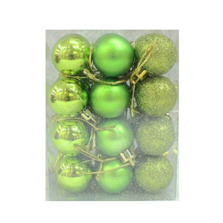 Christmas Balls 24Pcs(30mm) Christmas Balls Baubles Party Xmas Tree Decorations Hanging Ornament Decor