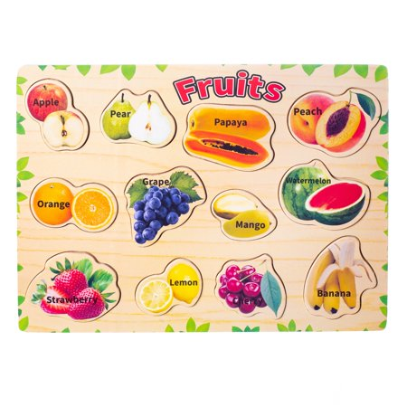 Cool Games For 10 Year Olds Girls (Eliiti Wooden Fruits Puzzle for Kids 3 to 6 Years Old Boys)