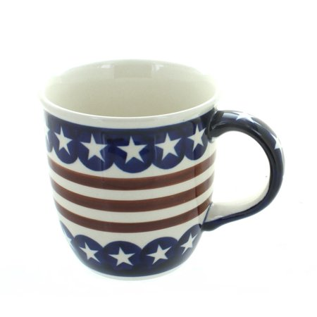 Polish Pottery Stars & Stripes Plain Mug ()