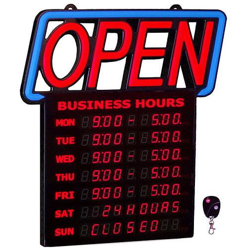 Green Light Digital Business Hours Open Sign  533661