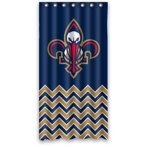 DEYOU New Orleans Pelicans Shower Curtain Polyester Fabric Bathroom Shower Curtain Size 36x72 inch
