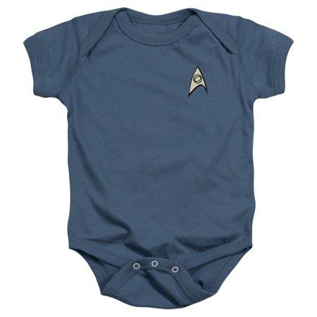 Star Trek Unisex Uniform Infant Snapsuit (Science, 24M) (Star Trek Uniform Buy)