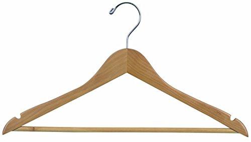 Colour Clothes Hangers with Trouser Bar Shirts Hangers Suit Hanger Hangers Wood Finish Ver