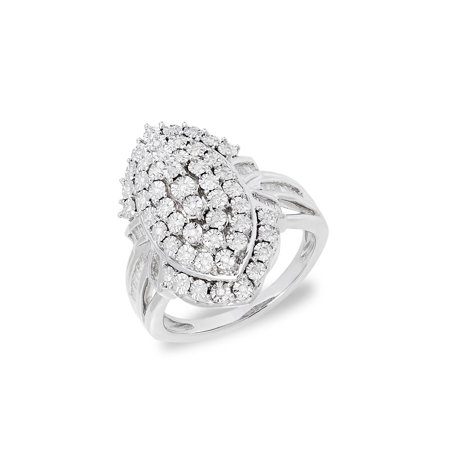 Sterling Silver & Diamond Statement Ring (Lord Of The Rings 50 Year Anniversary Edition)