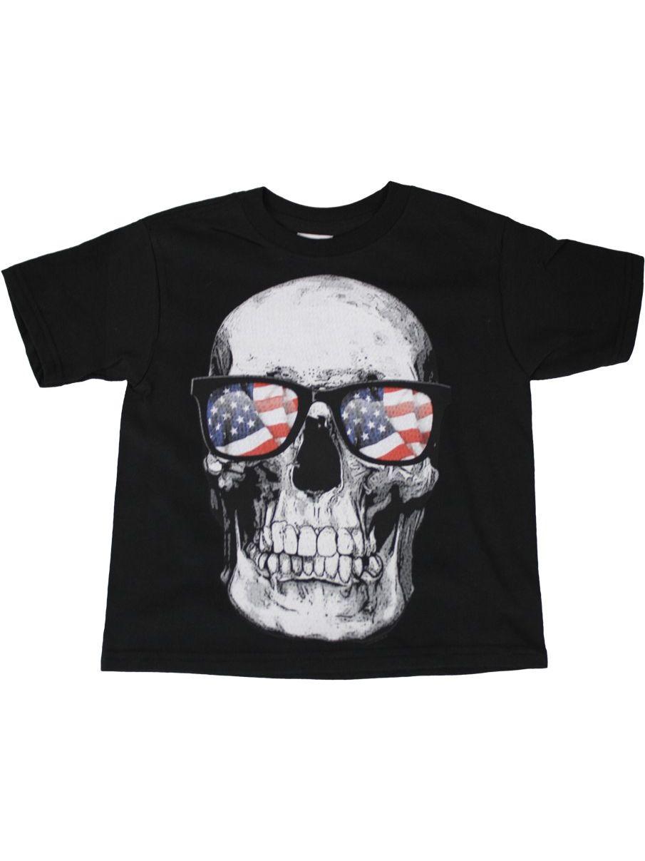 Custom Kids American Flag Tuxedo Toddler T-Shirt U.S 3T T-Shirt Gray
