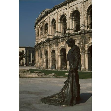 LAMINATED POSTER Nice Amphitheater Torero Statue Poster Print 24 x 36 (Nice Statue)