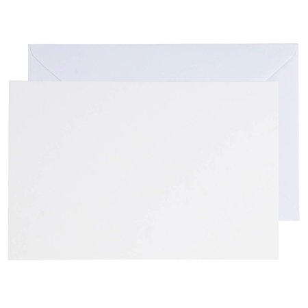48-Pack Blank Greeting Cards - Plain White Cardstock Folded Notecards - Standard Straight Corners, Envelopes Included for DIY, Invitation, Birthday, Wedding, 5 x 7 Inches, Laser Printer Friendly