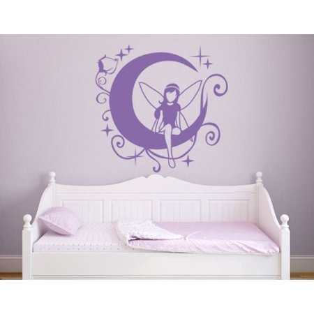 Moon Fairy II Wall Decal Kids Wall Decal Removable Sticker Vinyl Wall