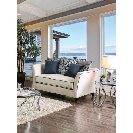 Furniture of America Amarla Transitional Style Premium Velvet Like Loveseat