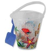 "George J Marshall 9"" Clear Bucket & Shovel Set"