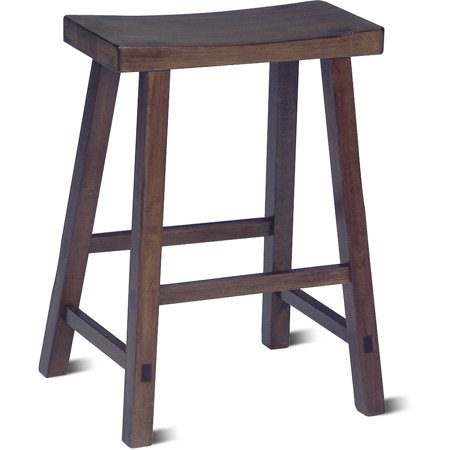 "24"" Davis Saddle Seat Stool Walnut - International Concepts"