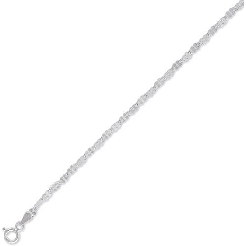 "Diamond-Cut Sterling Silver Chain, 20"""