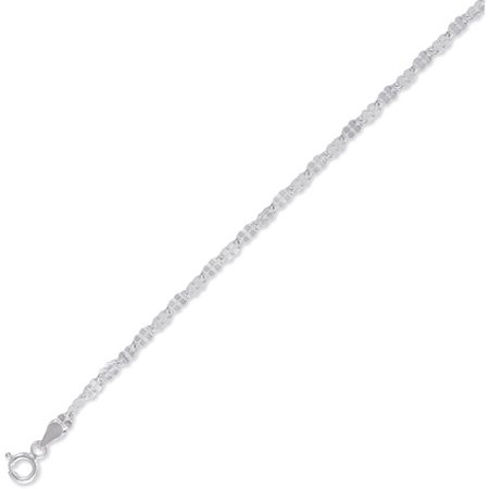 Sterling Silver Daisy Chain Necklace, 20 inches