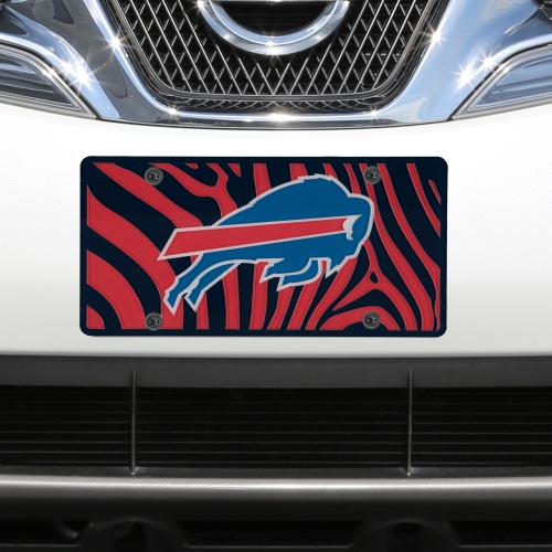 Buffalo Bills Zebra Acrylic Cut License Plate - No Size