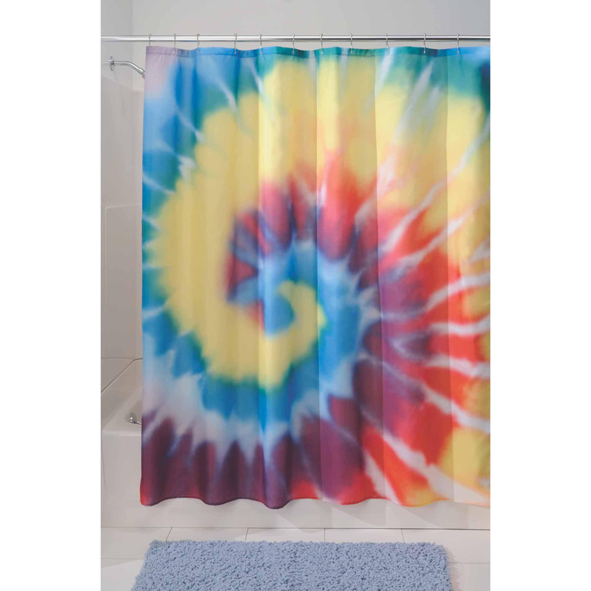 Interdesign Bright Tie Dye Shower Curtain Walmart Com