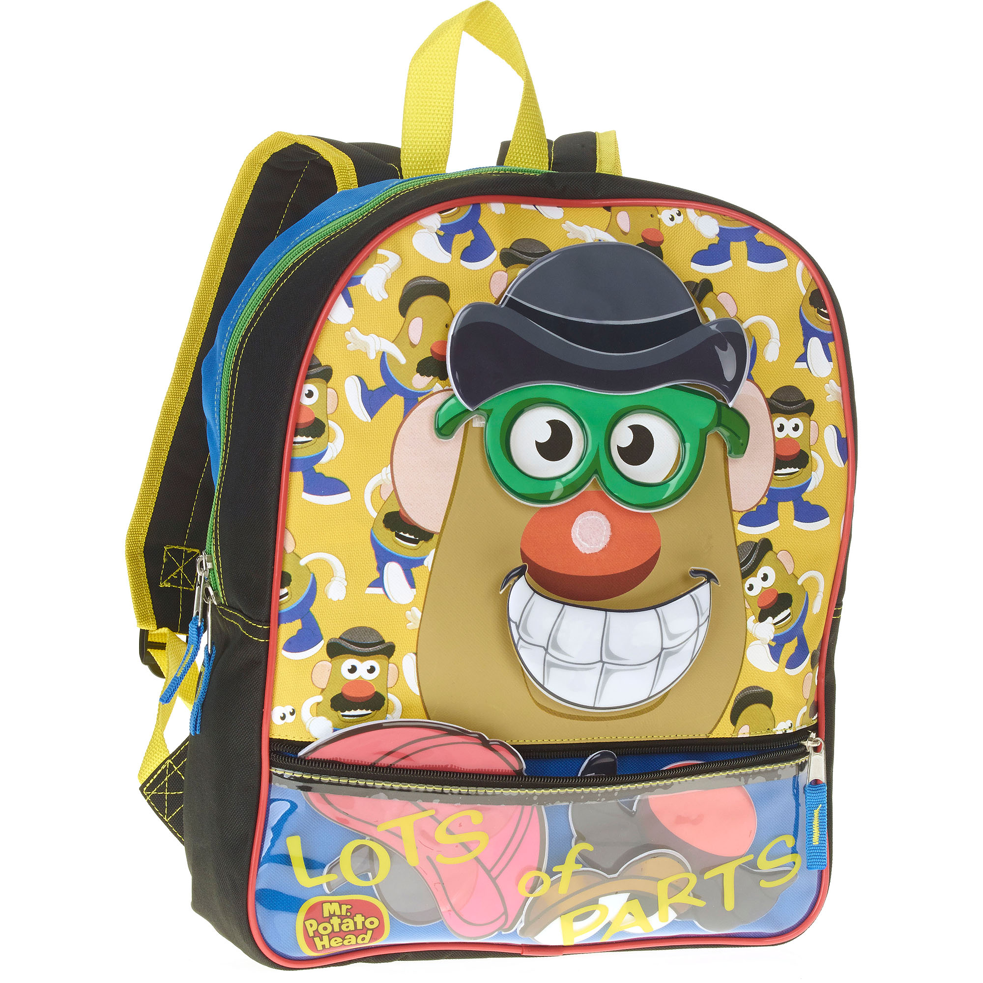 "Mr. Potato Head 16"" Backpack with removable parts"