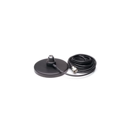 SOLARCON MAG-518 5 Magnet Mount CB Antenna Base with Coax Cable  Black