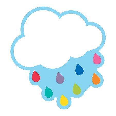 Fun Express - Sgs Hello Sunshine Raindrops Bb Cutouts - Educational - Classroom Decorations - Bulletin Board Decor - 36 Pieces - Sun Bulletin