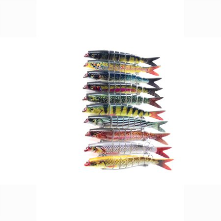 5.5in / 0.76oz Bionic Multi Jointed Hard Bait S Swimming Action Fishing Lure 8 Segment Sinking Fishing Lure VIB Bait Crankbait 3D Eyes Lifelike Artificial Fishing Lures Hook with Treble Hooks Tackle - image 7 of 7