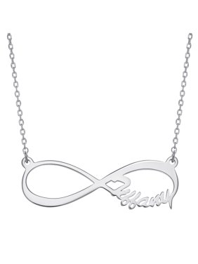 429e59cbb Product Image Personalized Women's Sterling Silver or Gold over Silver  Infinity Name Necklace, ...