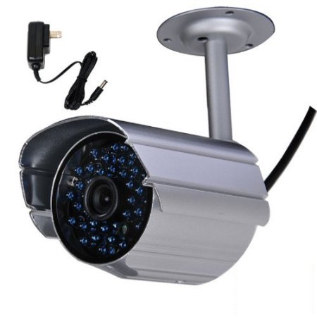 VideoSecu Infrared Day Night Vision 36 LEDs Security Camera Weatherproof Outdoor Home Surveillance w/ Power IR808HSK BNT