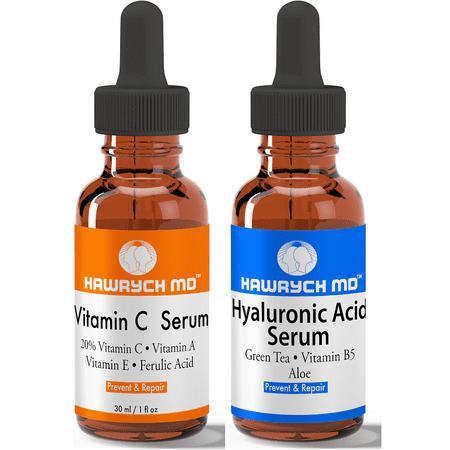 Hawrych Md - Hawrych MD 20% Vitamin C and Hyaluronic Acid Serum Set - Walmart.com