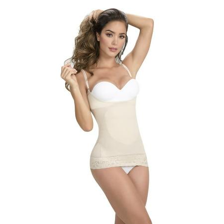Cami Shaperr Shapewear Skin Care Bodysuit Breast Enhance T-Shirt Faja - Skin Tone Body Suits