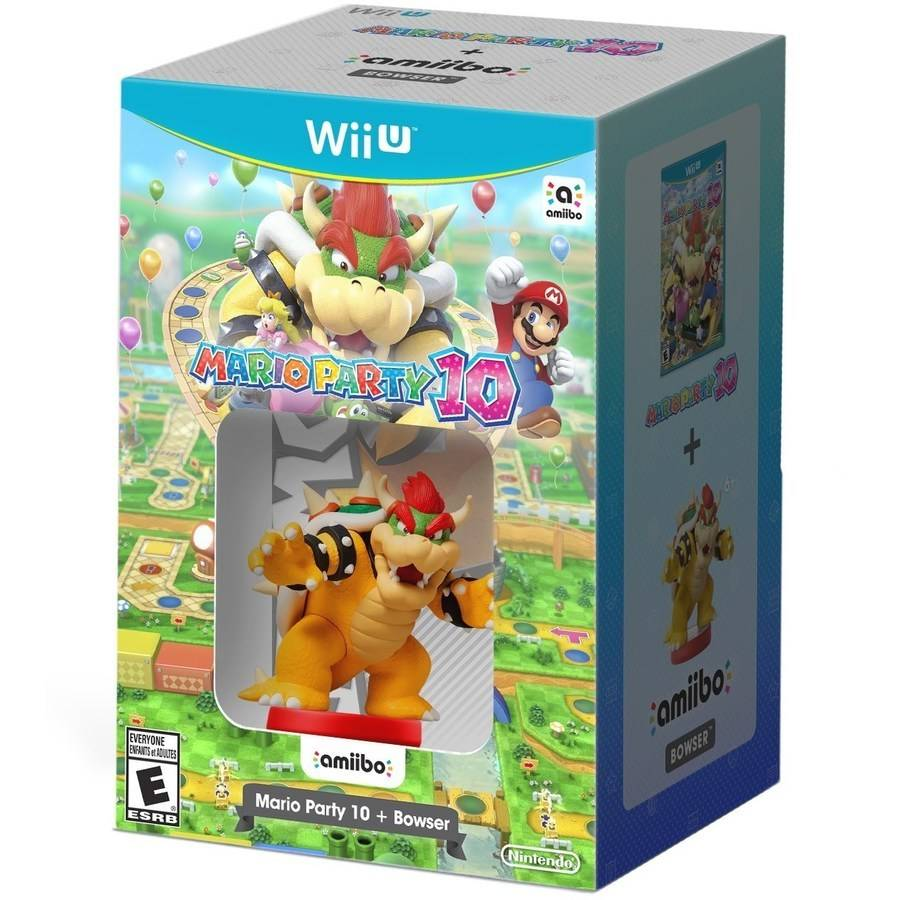 Refurbished Nintendo Mario Party 10 + Bowser Amiibo (Wii U)