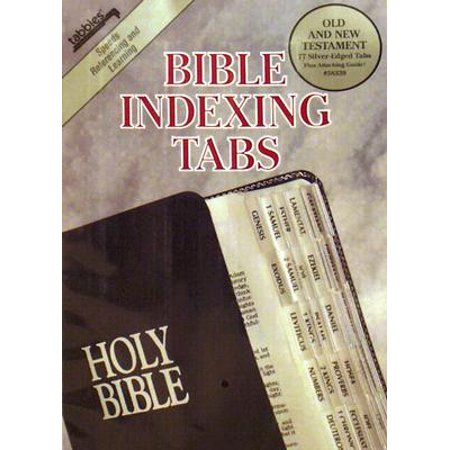 Bible Tab: Clear Tab with Silver Center Strip and Black