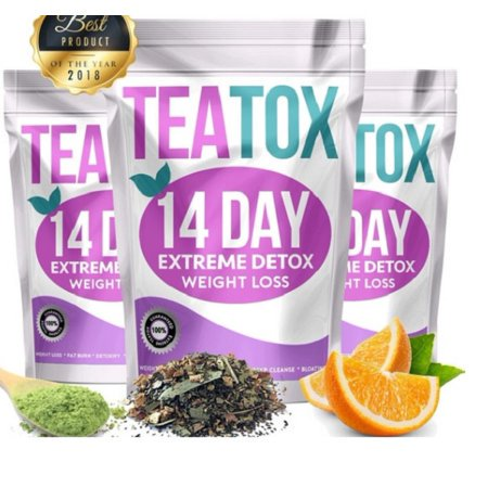 Teatox 14 Day Detox Herbal Weight Loss Tea- Natural Weight Loss, Body Cleanse and Appetite Control Tea Get Fit