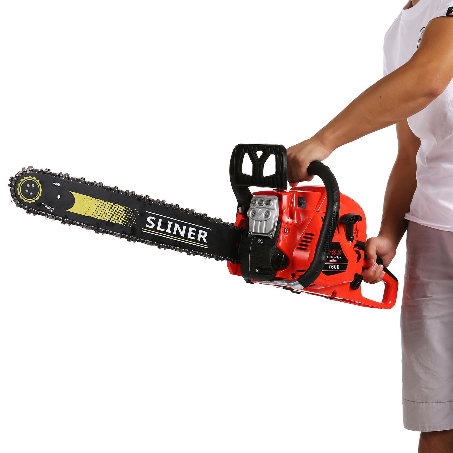 3.4HP 58cc 20inch Petrol Gas Chainsaw  Cutting Wood Easy Start Gasoline saw CYBST