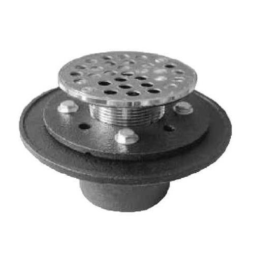 "PROFLO PF42957RD Cast Iron Round Shower Drain (2"" IPS Connection)"