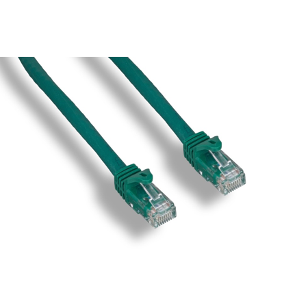 - 1ft Augmented Cat6 (Cat6a) Snagless 10G UTP Cooper Ethernet Patch Cable Molded  Green