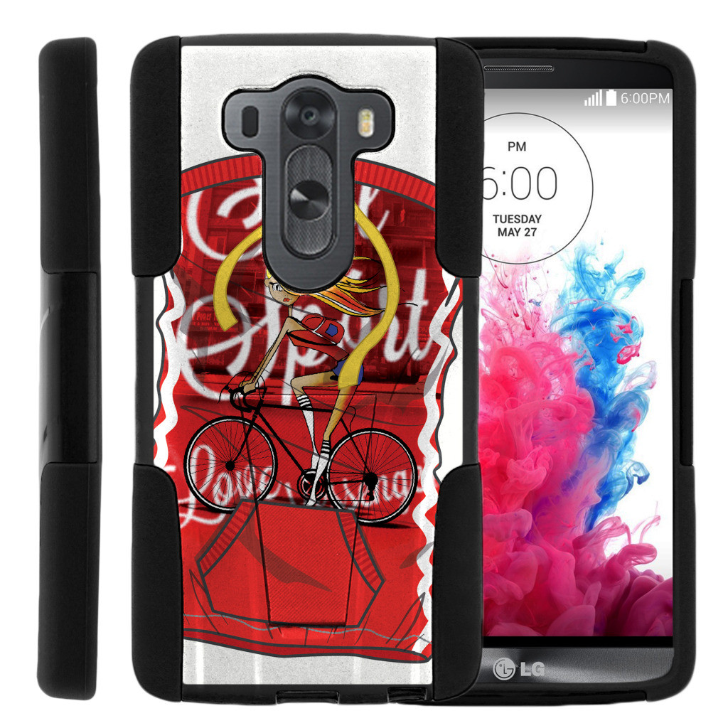 LG V10 and LG G4 Pro STRIKE IMPACT Dual Layer Shock Absorbing Case with Built-In Kickstand - Arctic Winter Road