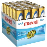 MAXELL-HEADPHONES 20PK AAA ALKALINE BATTERIES