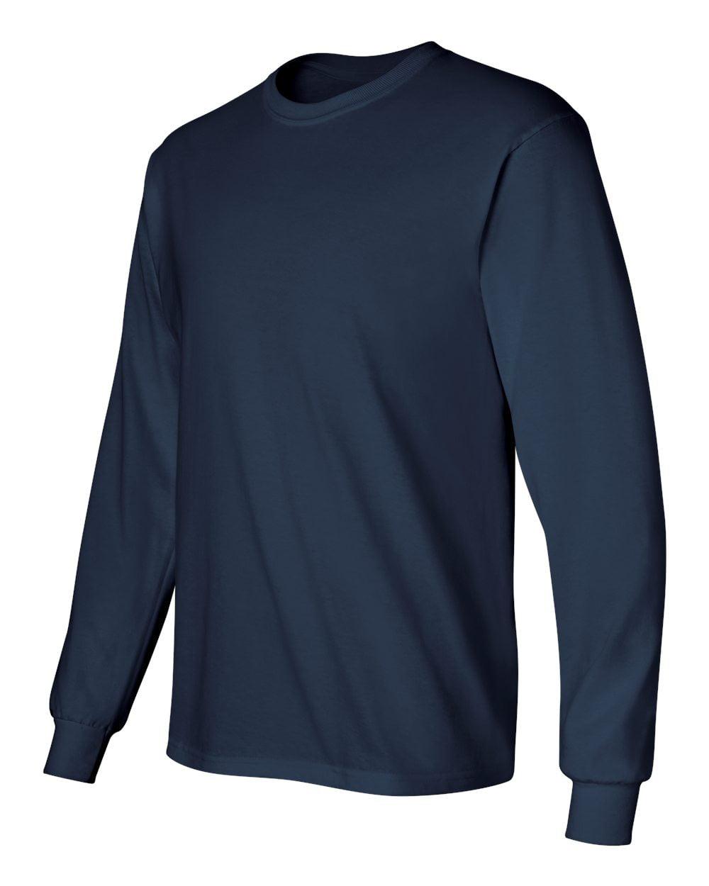 Safety Green Adult Gildan Long Sleeve Ultra Cotton t-shirt-Mens Tops