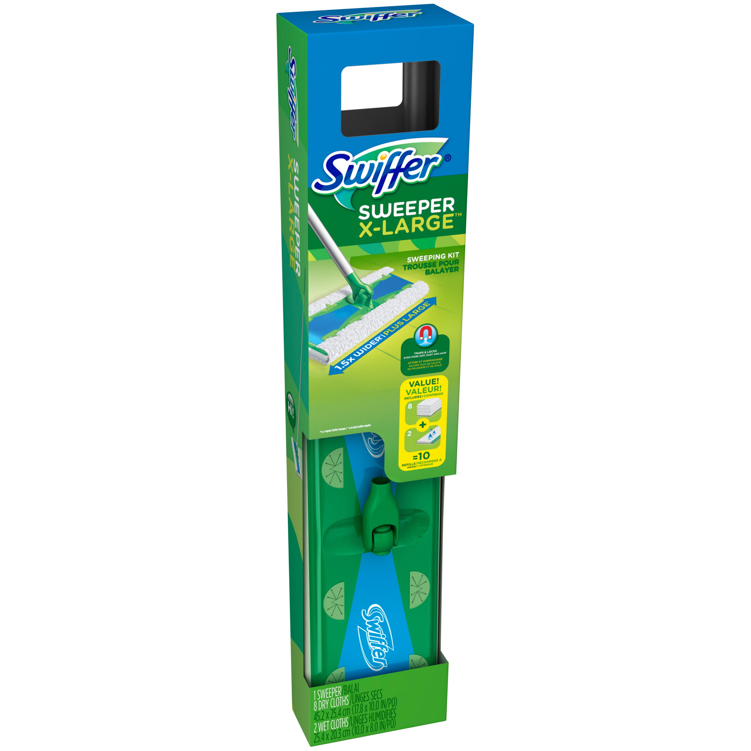 Swiffer Sweeper X-Large Floor Mop Starter Kit